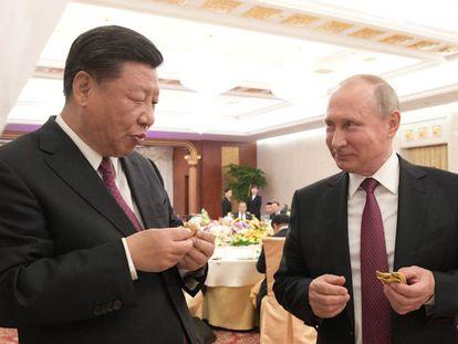 Xi Jinping e Putin, nesta sexta-feira na China