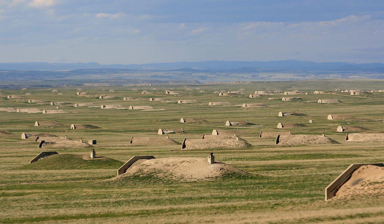 Dezenas de refúgios compõem a sede da Vivos XPoint em Dakota do Sul.