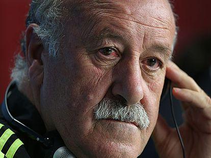 Vicente del Bosque, durante a coletiva de imprensa.