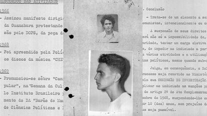 Trechos da investigação contra Caetano Veloso na ditadura militar.