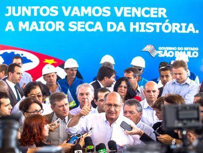 O Governador Geraldo Alckmin em maio de 2014,
