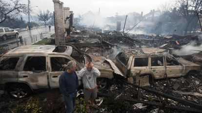 Destruição após o furacão Sandy nos EUA, em 2012.