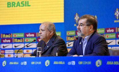 O técnico Vadão e o coordenador Marco Aurélio Cunha.