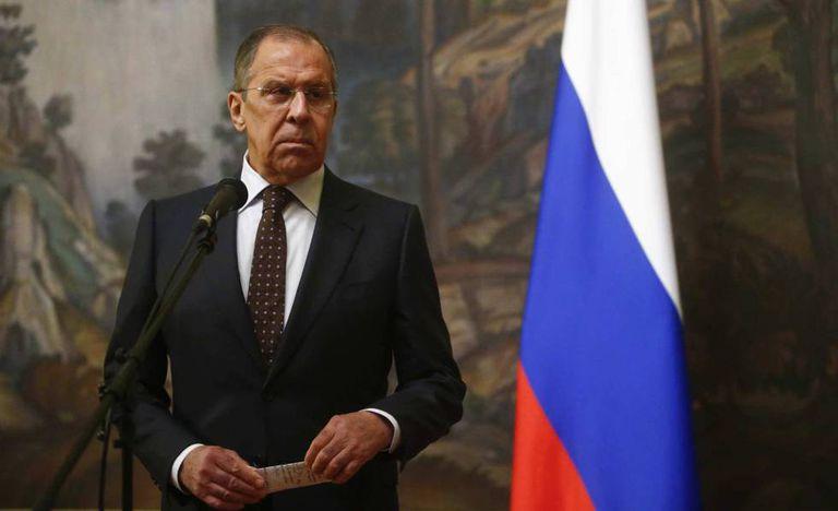 O ministro de Assuntos Exteriores da Rússia, Serguéi Lavrov, nesta terça-feira em Moscou.