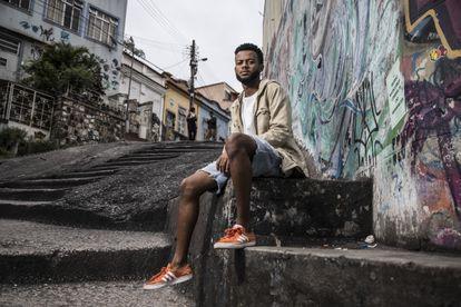 O estudante Kaylan Werneck Ramos da Silva, no Rio de Janeiro.