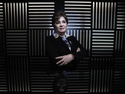 Patricia Espinosa, secretária-executiva da Convenção das Nações Unidas sobre Mudança Climática, na redação do EL PAÍS em Madri.