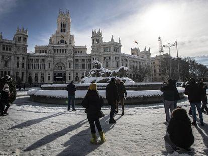 Edifícios emblemáticos de Madri depois da tempestade 'Filomena'