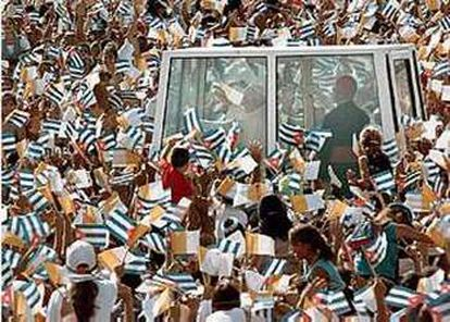 João Paulo II em Camagüey, durante sua viagem de 1998 a Cuba.