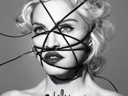 Capa do novo álbum de Madonna publicada em seu site.