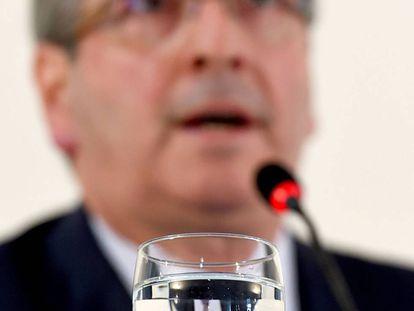 Cunha durante entrevista coletiva no dia 21.