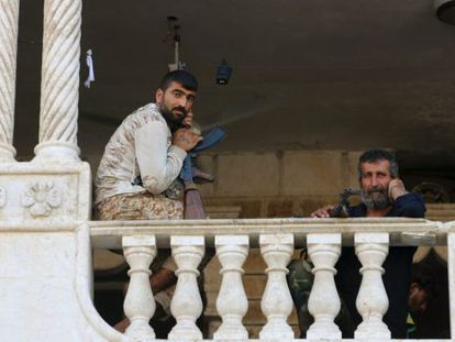 Rebeldes sírios, no final de julho em Alepo