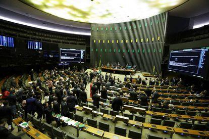O Plenário da Câmara dos Deputados.