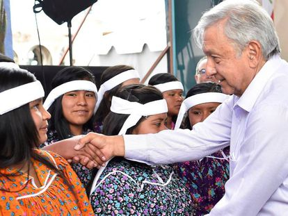 López Obrador durante uma visita a Chihuahua, onde lançou um programa de crédito.