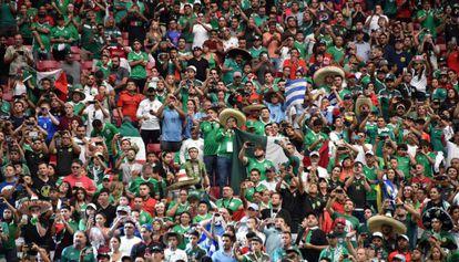 Torcida do México, durante a Copa América jogada nos Estados Unidos.