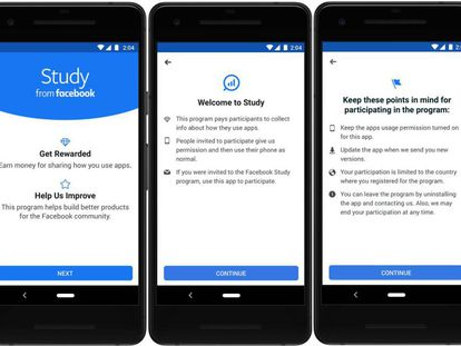 O aplicativo Study from Facebook.