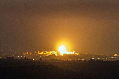 Ataque na faixa de Gaza nesta quarta-feira.