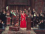 Coronación de los Reyes en el Congreso, en 1975.
