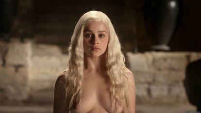 Emilia Clarke, Daenerys em 'Game of Thrones'.