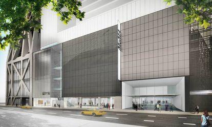 Desenho da fachada externa da ampliação do MoMa.