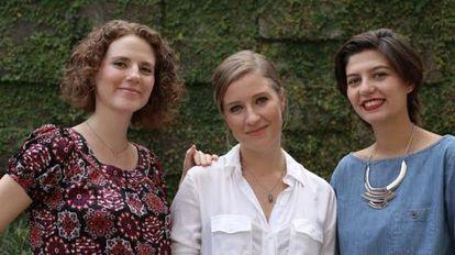 Maíra Liguori, Nana Lima e Jules de Faria do Think Olga.