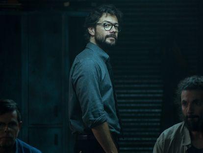 Álvaro Morte, na quarta temporada de 'La Casa de Papel'.