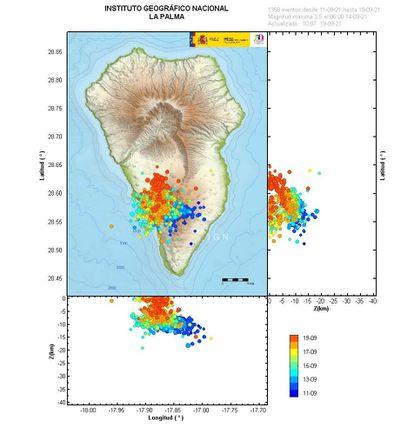 Earthquake located by IGN on the island of La Palma.