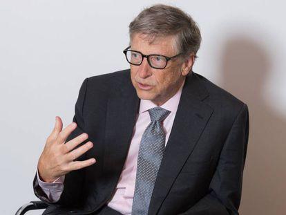 Bill Gates durante a entrevista em Londres.