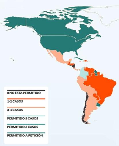 Mapa do aborto no mundo