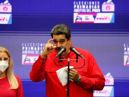 Nicolás Maduro, em uma coletiva de imprensa em 8 de agosto.
