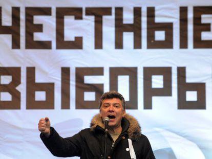 Boris Nemtsov em uma reunião em Moscou.