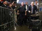 Harvey Weinstein en su llegada a la Corte penal estatal de Nueva York, este lunes.