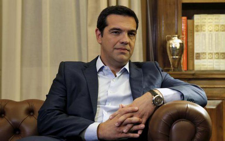 Tsipras, durante uma reunião com o presidente grego na quinta.