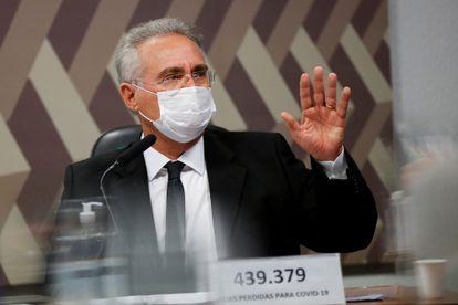 O senador Renan Calheiros no dia 19, em Brasília.