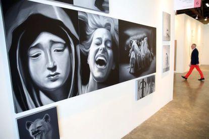 Uma das obras expostas na Feira Internacional de Arte de Bogotá (ARTBO).