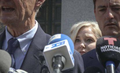 Na foto, Virginia R. Giuffre antes da audiência extraordinária em um tribunal de Nova York na terça-feira, 27 de agosto.