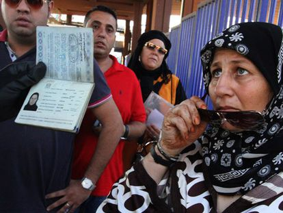 Yiran, refugiada síria, na fronteira de Melilla.