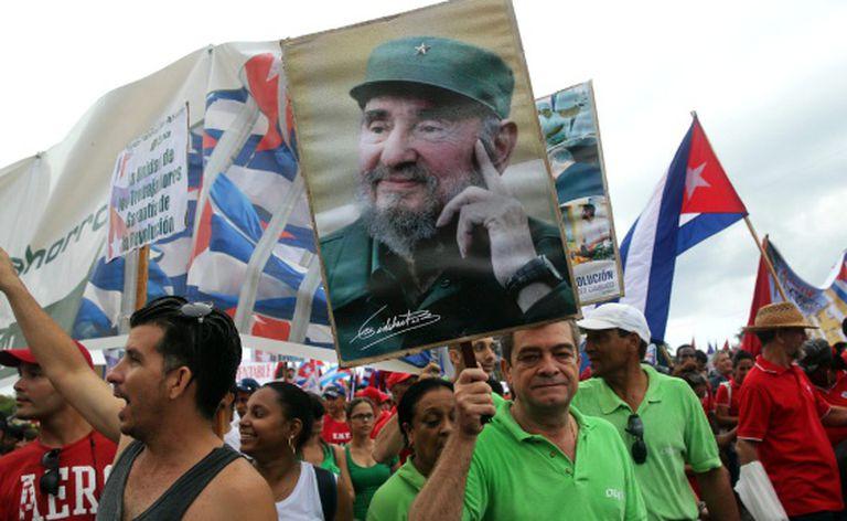 Manifestação em Havana no dia 1 de maio.