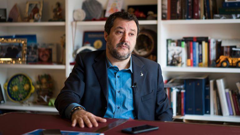 Matteo Salvini, em seu gabinete no Senado italiano. / Gianluca Battista