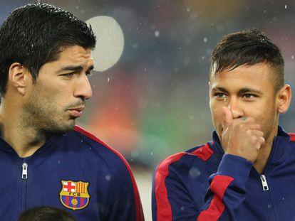 Suárez e Neymar: amigos e rivais.