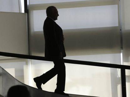 Ex-presidente Michel Temer, no Palácio do Planalto, em dezembro do ano passado.