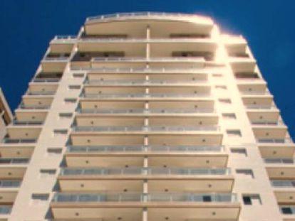 O edifício Solaris, onde fica o tríplex.