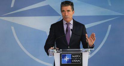 O secretário geral da OTAN Anders Fogh Rasmussen, em Bruxelas.