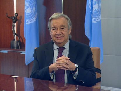 Declarações de António Guterres, secretário-geral da ONU, em sua entrevista ao EL PAÍS em Nova York.