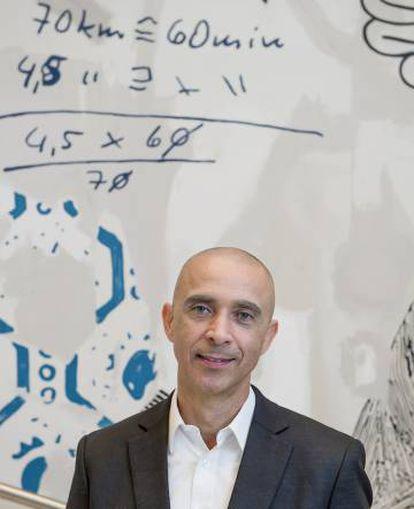 David Roberts depois de sua conferência na Oslo Innovation Week.