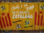 Catalan pro-independence graffiti in Barcelona.