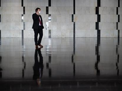 O deputado federal Marcelo Freixo, fotografado na Câmara dos Deputados, em Brasília.