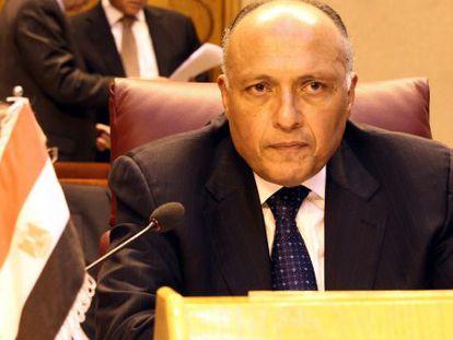 O ministro de relações exteriores do Egito, Sameh Shoukry. / K. Elfiqi (Efe)