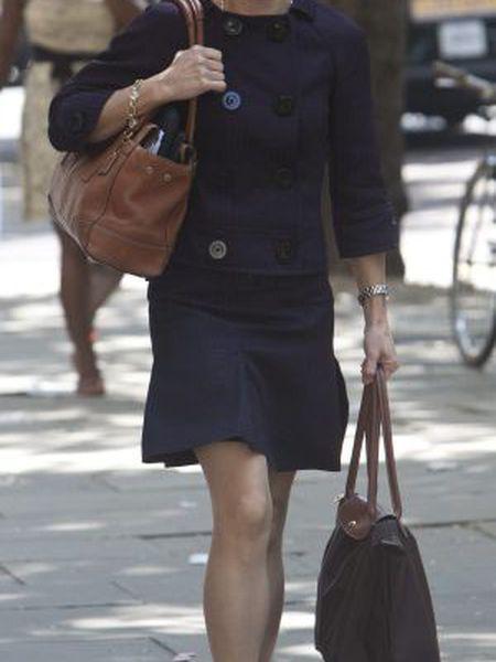 Isabel Sitz nas ruas de Londres.