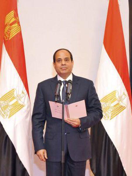 Abdel-Fattah Al Sisi na cerimônia de posse.