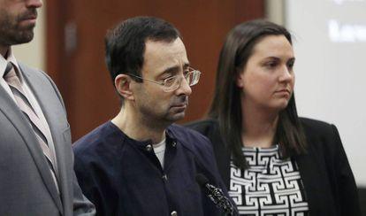 Larry Nassar, durante o julgamento.